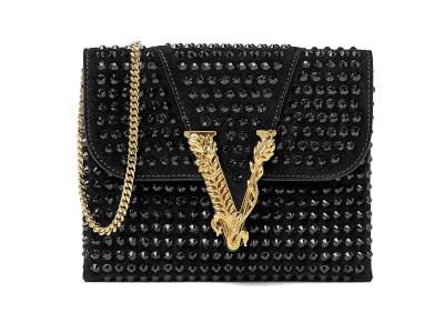 Versace Virtus Studded Clutch